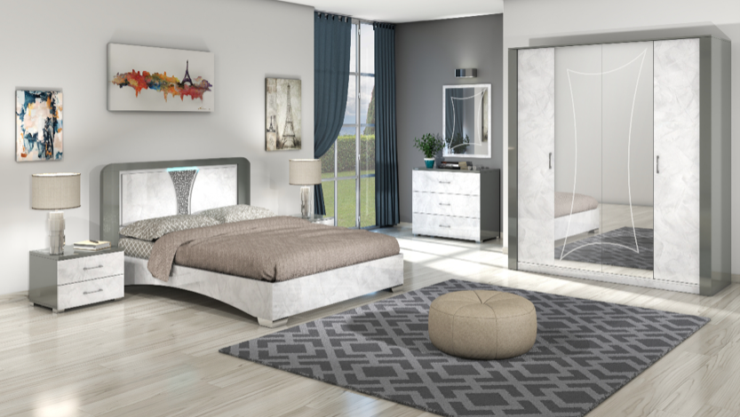 Chambre italienne - Lyon | Charles Meubles